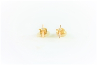 Yellow Gold Diamond Cross Studs