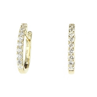 Diamond hoop earrings 1/3 carat total weight in 14KY