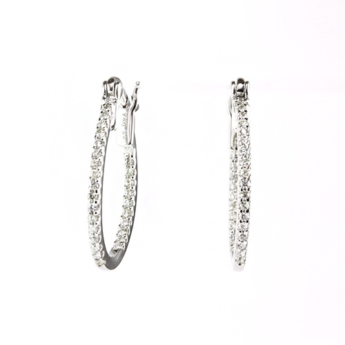 1 2 Carat Diamond Inside Out Hoop Earrings In 14k