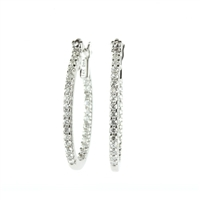 "1/4 carat diamond ""inside-out"" hoop earrings in 14k white gold"
