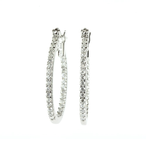 1 4 Carat Diamond Inside Out Hoop Earrings In 14k