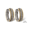 Diamond hoop earrings in 14K two tone gold with total diamond weight 1/3ct.