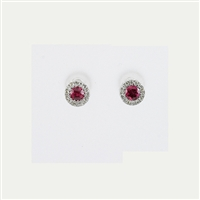 Ruby and diamond earrings.