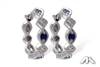 Sapphire and diamond earrings in 14K white gold