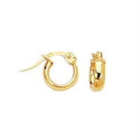 Classic 14K yellow gold baby hoop earrings.