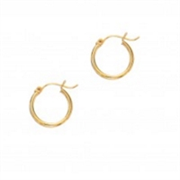 Classic 14K yellow gold 2x15mm hoops.
