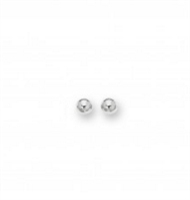 Classic 14K white gold 6mm ball stud earrings.