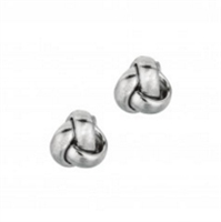 Love knots earrings in 14K white gold.