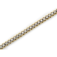 1ct total diamond weight bracelet in 14K yellow gold.