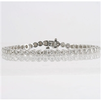 Diamond bracelet with 3.80ct total diamond weight in 14K white gold.