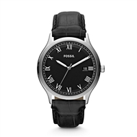 Ansel Leather Watch - Black