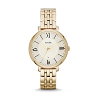 Jacqueline Three-Hand Stainless Steel Watch - Gold-Tone