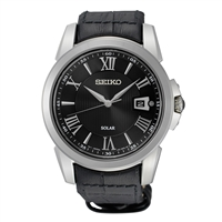 Man's Seiko SNE397 Solar Watch with Leather Strap