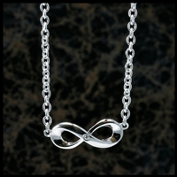 Sterling Silver Infinity Pendant with diamond