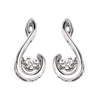 Sterling silver shimmering diamond earrings with .10ct total diamond weight