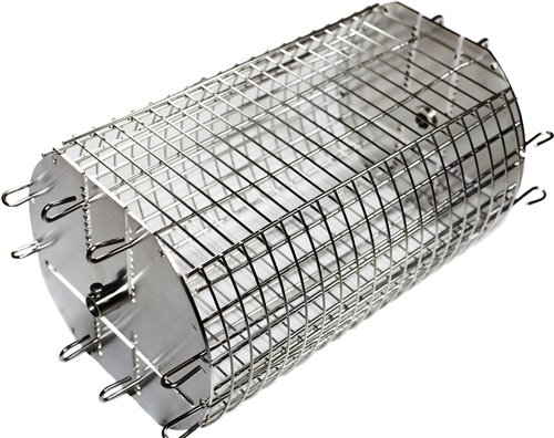 "OneGrill Performer Series Universal Fit Grill Rotisserie Spit Rod Basket (Fits 1/2"" Hexagon & 3/8"" Square Spits)"