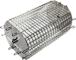 "OneGrill Performer Series Universal Fit Grill Rotisserie Spit Rod Basket (Fits 5/16"" Square Spits)"