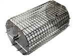 "OneGrill Performer Series Kamado Grill Fit Rotisserie Spit Rod Basket (Fits 5/16"" Square Spits)"