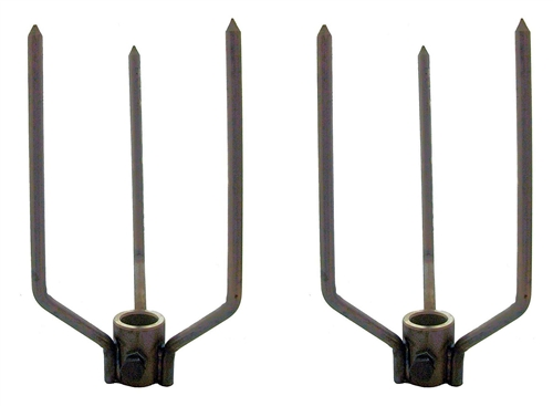 "Large Animal Forks - Fit Hex 3/4"" Rod-Stainless"