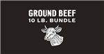 Grass Fed, Grass Finished Ground Beef Bulk Case  ~ 10 lbs