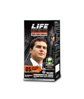 Placenta Life For Men Hair Color with Ginseng Extract Maximum White Hair Coverage. Ammonia Free (05 Light Brown)