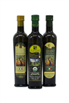 Award Winning Trio 1 / 500 ml delicato, 1 / 500ml organic ,and 1 / 500 ml fruttato