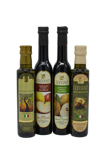 Olevano Oil and Balsamic Vinegar Tasting Kit Four Pack