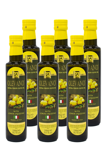 1 case (6 250ml bottles) of Lemon Infused Olive Oil