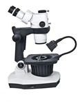 Motic GM-168 6:1 Zoom trino stereo microscope with gemmology tilting base