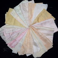 """Silk Plain Haori Linings - 20 pieces"" Fabric Bundle"