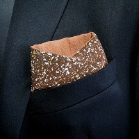 """Freckled Speckled"" - Pocket Square"