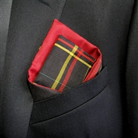 """Plaid Man"" - Pocket Square"