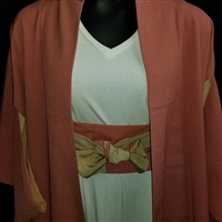 """Plain Papaya"" Japanique Robe"