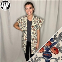 Japanique tunic vest made from a vintage japanese haori kimono jacket