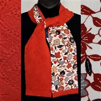 """Tomato Red"" - Japanique Scarf"