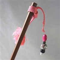 """Coral and Black"" - Himo Hairstick"