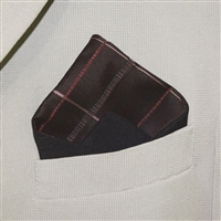 """Fine Plaid"" - Pocket Square"