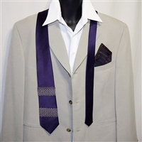 """Purple Party"" Necktie-Pocket Square Set"