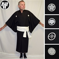 """Black Formal"" Man's Kimono - Various Crests"