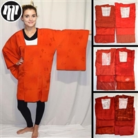 """Orange Michiyuki Surprise"" Woman's Kimono Jacket"
