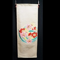 """Floral Jumble #2"" Focus Fabric Hanging"