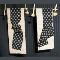 """Kasuri Pair"" Focus Fabric Hangings"