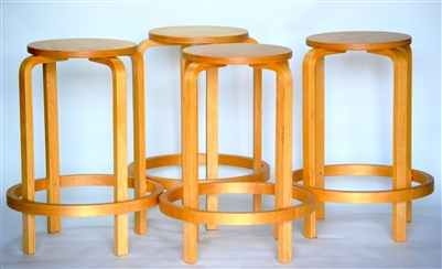 Bentwood Stackable Counter Stools Alvar Aalto Inspired