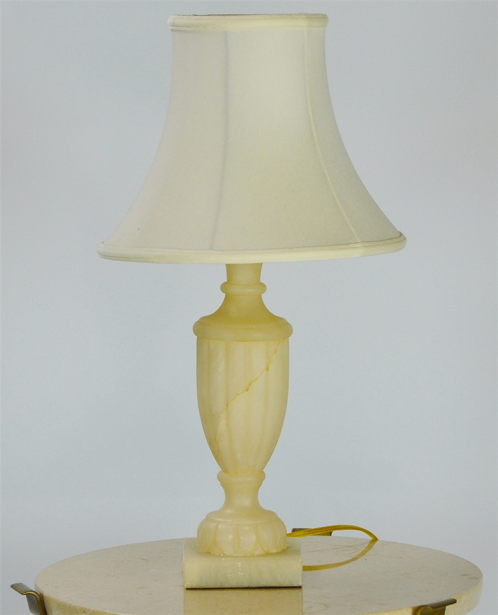 Table lamp hollywood regency style alabaster lamp by sarreid ltd mozeypictures Images