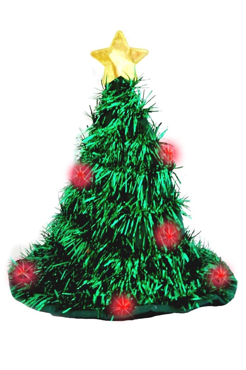 Christmas Tree Hat.Light Up Christmas Tree Hat Each