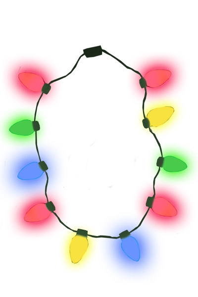 christmas bulb necklace smooth - Lighted Christmas Necklace