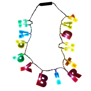 Happy Birthday Letters Necklace