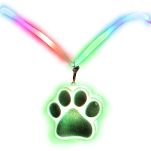 Jumbo Drop Necklace - Paw Print