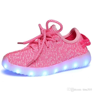 Cloth LED Shoes - Pink (Men's Size 8)