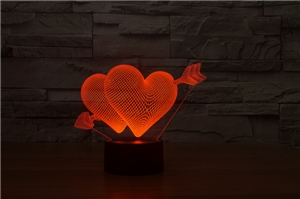Laser Lamp - Heart and Arrow